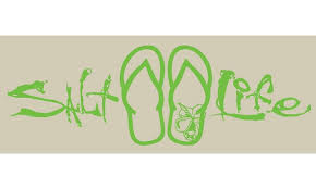 Salt Life Signature Sandal Decal Lime