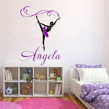 Custom Personalised Name Ballerina Wall Stickers Decal Nursery Decor Art Mural Ebay