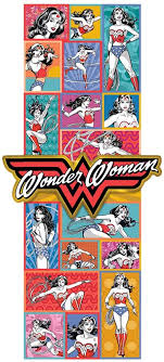 Amazon Com Wonder Woman Rainbow Banner Large Wall Decal Arts Crafts Sewing