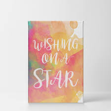 Smile Art Design Wishing On A Star Unicorn Quote Wall Decor Watercolor Paint Unicorn Gift Canvas Wall Art Print Kids Room Decor Baby Room Decor Nursery Decor Ready To Hang Made In