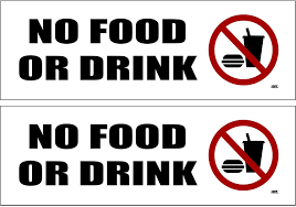 Business Industrial Restaurant Signs 4 Pack No Food Or Drinking Allowed Sticker Set Sign Warning 3x3 Inch Vinyl Decal Studio In Fine Fr