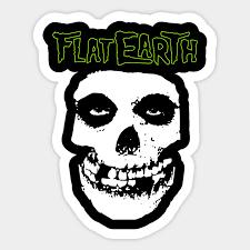 Flat Earth Punk Misfits Sticker Teepublic Au