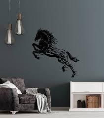 Vinyl Wall Decal Water Drops Abstract Silhouette Horse Animal Stallion Wallstickers4you