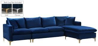 selene contemporary plush navy blue