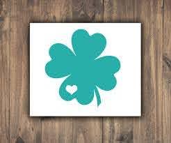 Four Leaf Clover With Heart Vinyl Decal Irish Car Window Etsy In 2020 Car Window Stickers Window Stickers Vinyl Decals