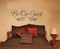 Be Our Guest Quote Wall Decal Vinyl Saying For Guest Bedroom Or Entryway 33x11 Ebay Wall Decor Bedroom Guest Bedroom Decor Bedroom Wall