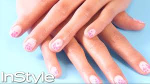 pink shattered gl nails instyle