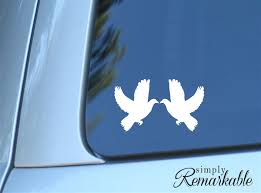 Birds Wedding Love Dove Decal Size 5 2 X 3 Inches