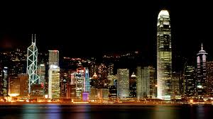 hong kong night cityscape wallpaper
