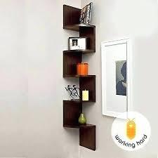 bookshelf white floating wooden