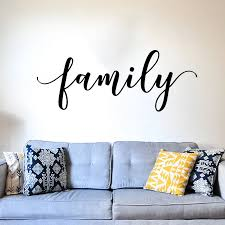 Large Family Lettering Wall Sticker Bedroom Living Room Family House Sign Quote Wall Decal Kitchen Kid Room Vinyl Decor Wall Stickers Aliexpress