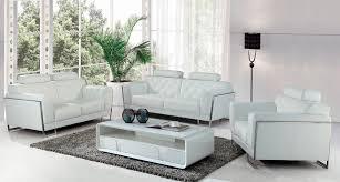 divani casa huron modern white leather