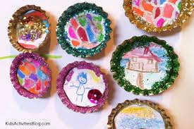 homemade gift art magnets