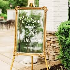 Amazon Com Vinyl Art Decal Custom Welcome To The Wedding Of 30 X 22 Elegant Vertical Layout Personalized Wedding Greeting Couples Bride Groom Marriage Reception Love Decor Vertical Arts Crafts