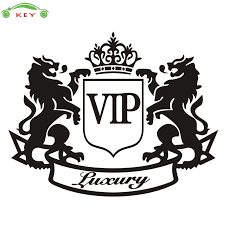 14 11cm Car Styling Vip Lion Window Trunk Sticker Auto Body Decal For Mitsubishi Holden Lexus Buick Daihatsu Mercedes Bmw Opel Car Stickers Aliexpress