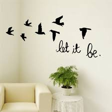 New Arrival Black Flying Birds Wall Sticker For Kids Rooms Decals Poster For Sale Online