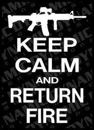 Large Keep Calm And Return Fire Ar 15 Vinyl Window Decal Sticker Nra Pro 2nd Gun Ebay