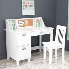 Amazon Com Kidkraft Kids Study Desk With Chair White Toys Games