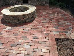outdoor fire pit charlotte pavers and