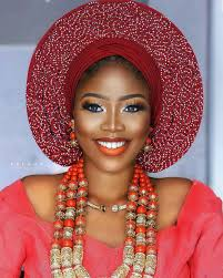bridal inspired gele and makeup looks