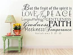 Amazon Com Fruit Of The Spirit Galatians 5 22 23 The Fruit Of The Spirit Wall Decals Fruit Scripture Wall Decal King James Bible Inspirational Wall Decal Church Wall Decal Daycare Wall Decal Bible Hymn
