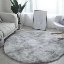 Fluffy Round Grey Carpet Tie Dyeing Carpets For Living Room Faux Fur Area Rug Kids Long Plush Bedroom Water Absorption Mats Shaw Carpet Colors Commercial Flooring Installation From Williem 23 62 Dhgate Com