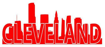 Buy Cleveland Skyline Decal Sticker Cle Red Vinyl Indians Cavaliers Browns 440 216 Motorcycle In Chesterland Ohio United States For Us 6 99