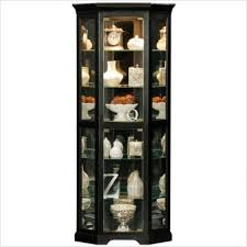 savannah corner curio cabinet finish