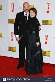 Adriana Barraza and husband arriving at the 12th Annual Critics Choice  Awards ( from the Broadcast Film Association ) at the Santa Monica Civic  Auditorium in Los Angeles. January 12, 2007. eye