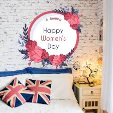 Shop March 8 Woman Flowers Full Color Wall Decal Sticker K 1270 Frst Size 20 X20 Overstock 21678015