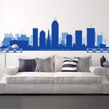 Indianapolis Indiana Skyline Wall Decal Art Vinyl Removable Etsy