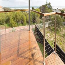 China Stainless Steel Cable Railing Systems Handrail For Balcony China Stainless Steel Rail Cable Rail Components