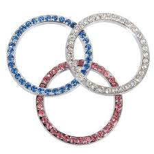 Crystal Bling Ring Car Sticker Ring For Start Engine Key Ignitions Carsoda