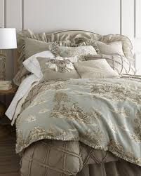 spa toile bed linens toile bedding