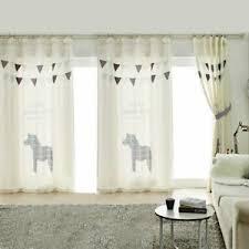 1x Panel Kids Children Room Curtain Window Dressing Covering Horse Pony Flag Ebay