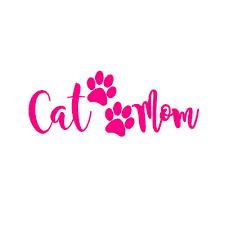 Cat Mom V3 7 Hot Pink Vinyl Decal Window Sticker Ebay
