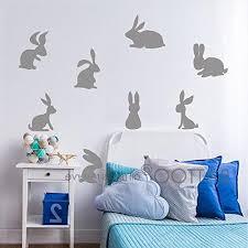 Battoo 16 Bunnies Wall Decal Sticker Easter Decor