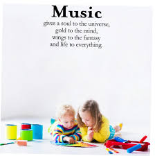 Pvc Wall Stickers Inspiration Quotes Music Gives A Soul To The Universe Vinyl Wall Art Decor For Home Bedroom Office Decoration Wall Stickers Aliexpress