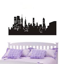 Poomoo Wall Decor Wall Decal New York City Nyc Skyline Cityscape Travel Vacation Destination 4 Sizes Decorative Wall Decal Wall Decalsdecoration Wall Aliexpress