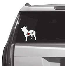 Amazon Com Blue Heeler Puppy Dog Love Heart Custom Car Decal Window Sticker Vinyl Free Shipping Handmade