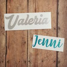 Name Decal Word Decal Name Sticker Glitter Decal Yeti Etsy Glitter Decal Name Stickers Names