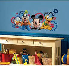 Amazon Com Roommates Mickey Friends Mickey Mouse Clubhouse Capers Peel And Stick Giant Wall Decals Home Improvement