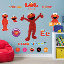 Fathead Elmo Life Size Officially Licensed Sesame Street Removable Wall Decal Walmart Com Walmart Com