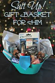 suit up gift basket for him living a