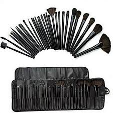 piece brush set with leather case on on