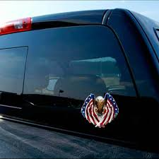 Bald Eagle Usa American Flag Sticker Car Truck Window Iphone Bike Drone Decal