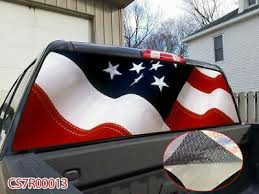 American Flag Banner Striped Rear Window Graphic Decal Tint Sticker Truck Suv Ut