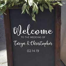Welcome To The Wedding Custom Wall Quotes Decal Wallquotes Com