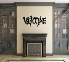 Loon Peak Brzyszcz Welcome Sign With Antlers Vinyl Graphic Word Wall Decal Wayfair