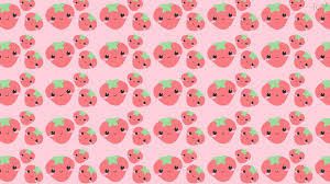 Strawberry Wallpapers فراولة خلفيات Kawaii Background